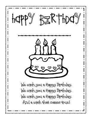 class bday card template 17 best images about birthday book student on