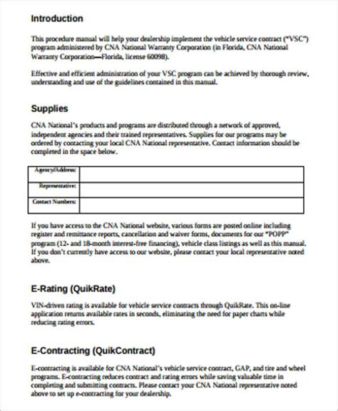 Agreement Letter For Car Repair Sle Vehicle Service Contract 7 Exles In Word Pdf