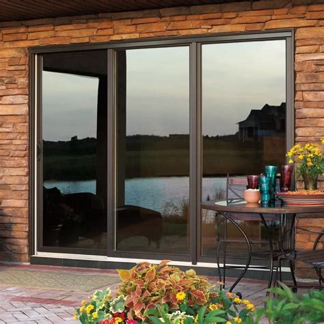 Fiberglass Sliding Patio Doors Commendable Wood Sliding Patio Door Sliding Patio Door Wooden Fiberglass Glazed Wood