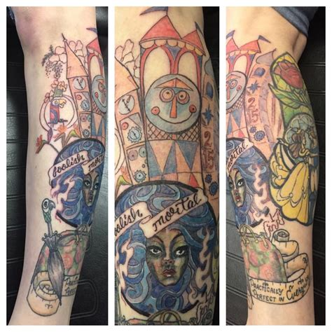 small world tattoo madame leota from haunted mansion tiki room and it s a