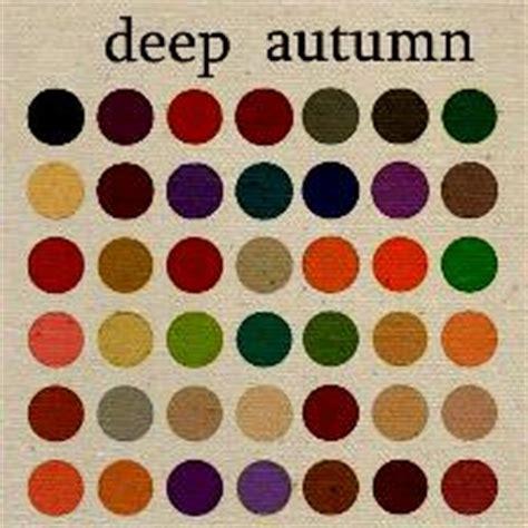 deep autumn color palette autumn colour palette i ve got chestnut hair instead of