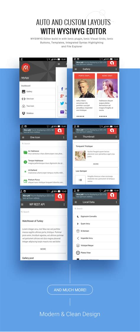app layout builder ionic mobile app builder full applications download