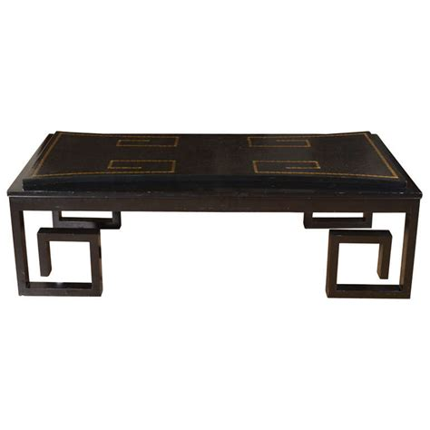 Coffee Table Leather Top Leather Top Coffee Table With Key Motif At 1stdibs
