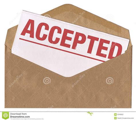 College Acceptance Letter Envelope Envelope Accepted Letter Stock Photography Image 5249922