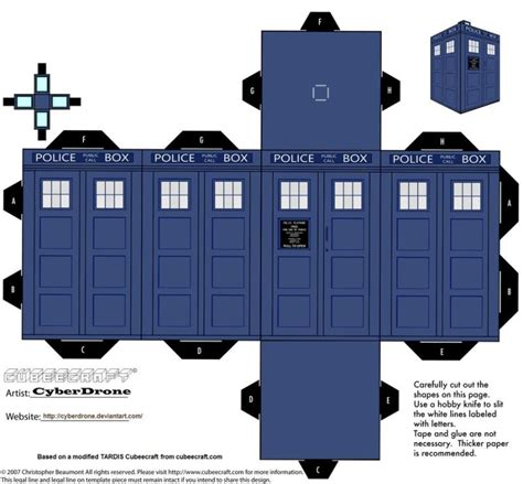 Origami Tardis - print out and fold your own paper tardis and daleks