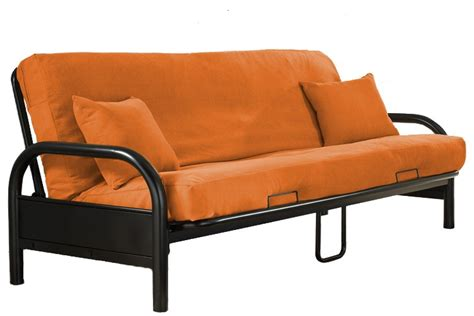 Orange Futons by Solid Orange Futon Cover The Futon Shop