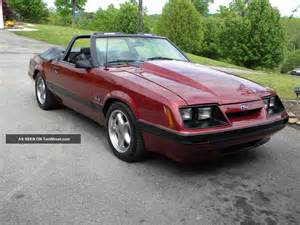 1986 ford mustang lx convertible car 306 5 speed