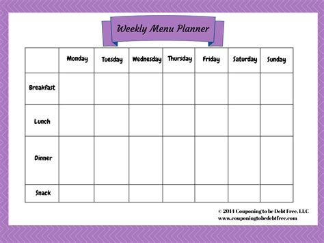 weekly menu planner template free pin printable weekly menu planner template on pinterest numbers weekly menu planner template free iwork templates
