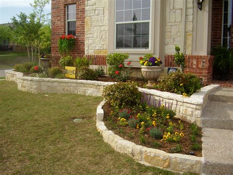 Stone Flower Bed Edging Ideas