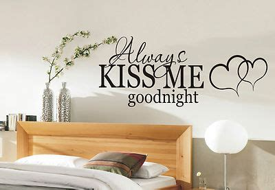 Sticker Wallpaper Dinding Family always me goodnight wall sticker quote bedroom