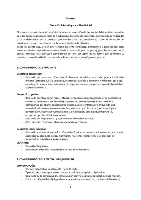 balotario desarrollado para el concurso de nombramiento de temario ebr nivel inicial concurso de nombramiento 2015