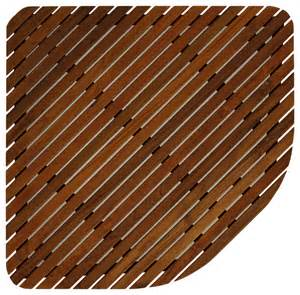 erika corner shower spa mat solid teak wood and