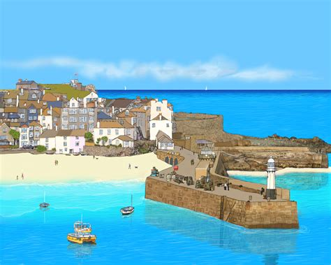 St Yves st ives blue harbour gallery