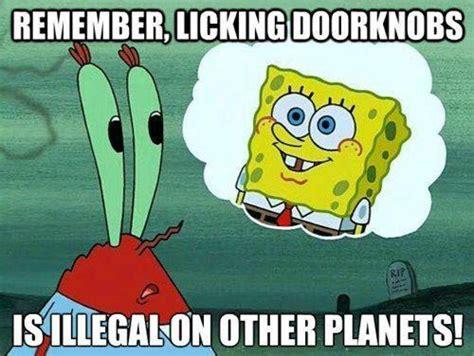 Spongebob Licking Meme Maker - words to live by spongebob