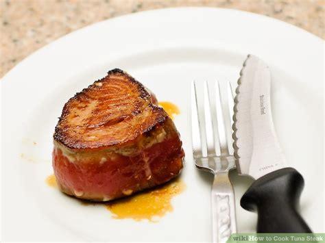 simple ways to cook tuna steak wikihow
