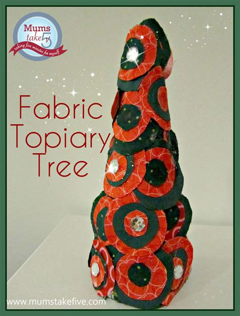 christmas craft fabric topiary tree