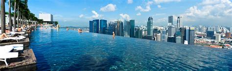 Singapore Infinity Pool Infinity Pool Marina Bay Sands Highest Largest In The
