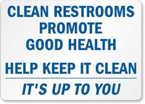 Bathroom Signs To Clean Up After Yourself Restroom Signs Keep Bathroom Clean Signs