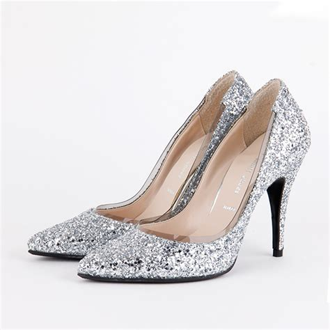 Heels Hitam Glitter 2 small size glittery silver high heels aquarius silver by pretty small shoes