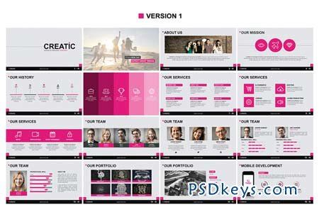 Creatic Powerpoint Template 94090 187 Free Download Photoshop Vector Stock Image Via Torrent Free Indesign Presentation Templates