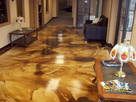 concrete acid stain photo gallery direct colors inc