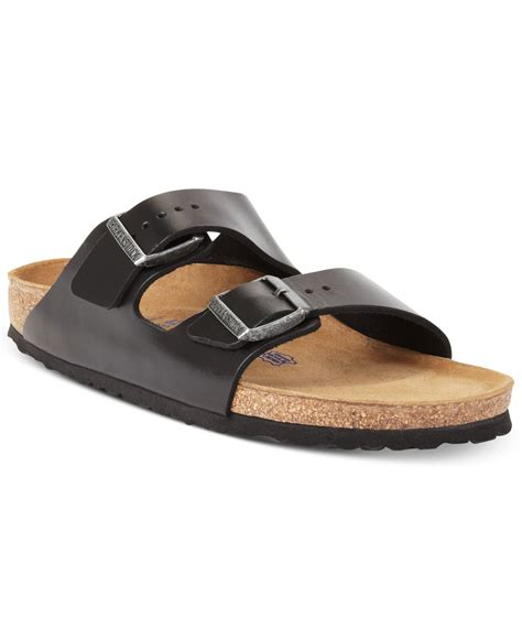 birkenstock sandals black birkenstock arizona leather sandals in black for