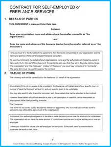 free self employed contract template free contract for self employed or freelance staff