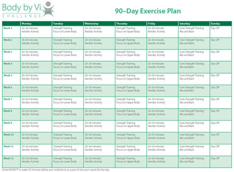 workout schedule template printable calendar template 2016