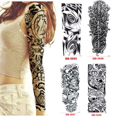 flash tattoos aliexpress 3pcs temporary tattoo sleeve waterproof tattoos for men