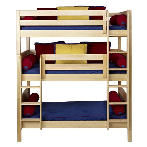 maxtrix bunk bed maxtrix holy triple bunk bed in natural with panel bed
