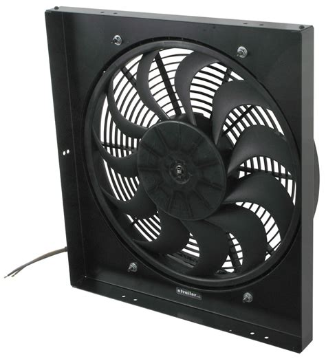 5000 cfm electric radiator fan derale 17 quot high output electric radiator fan and shroud