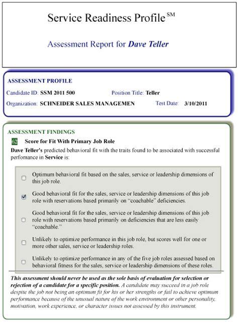 service readiness report sample reports optimum