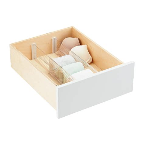 Expandable Drawer Dividers by 4 Quot Expandable Drawer Dividers The Container Store