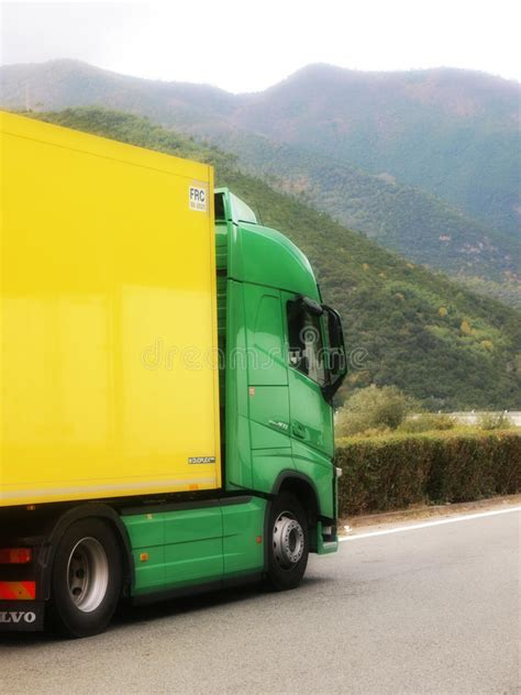 brand new volvo truck price new volvo fh truck green and yelow colors editorial image