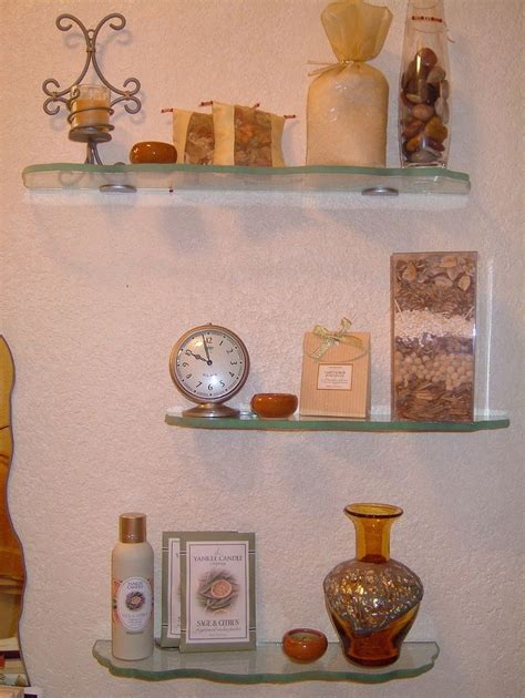 decorate bathroom shelves glass bathroom shelves that require decoration home