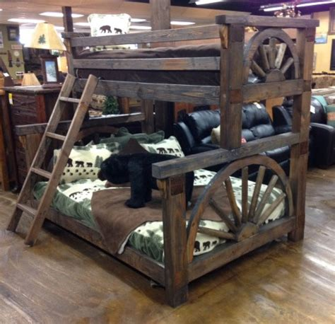 Wagon Wheel Bunk Bed Wagon Wheel Western Plains Bunk Bed Collection