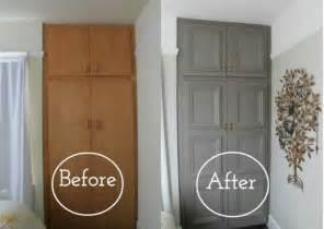 Beau Relooker Meuble En Bois #2: id%C3%A9e-comment-repeindre-un-meuble-armoire-en-bois-repeint-en-gris-avant-apr%C3%A8s-peinture-murale-decoration-murale-relooker-un-meuble-e1490688098529.jpg