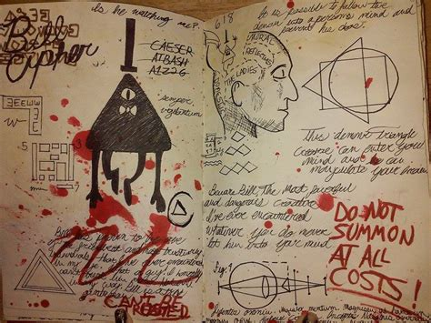 sle of journal gravity falls journal 3 replica bill cipher page by