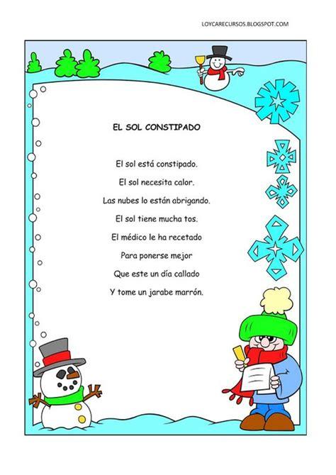 poemas infantil poemas y rimas infantiles del invierno para ni 241 os poemas
