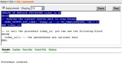 procedure tutorial in oracle 5 using procedures functions and packages