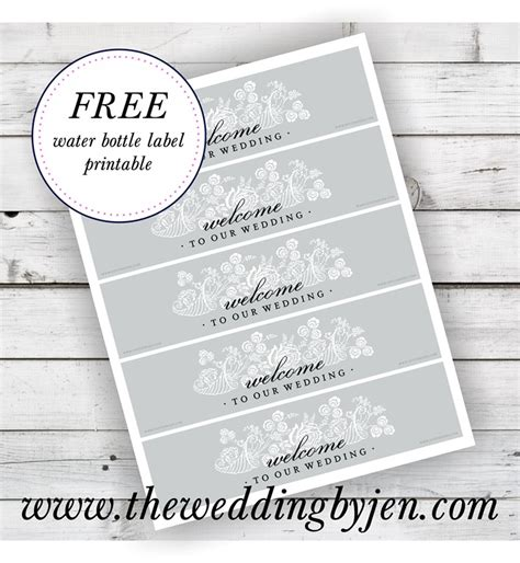 free downloadable wedding water bottle labels new