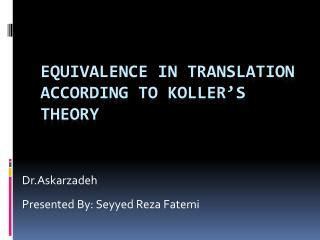 thesis about equivalence in translation theory ppt translation equivalence enhances cross linguistic
