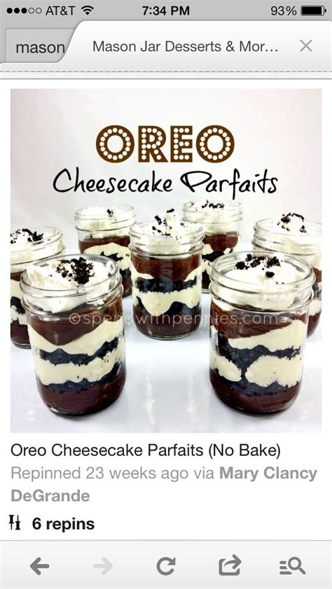 cara membuat oreo cheesecake in jar oreo cheesecake in a mason jar recipes pinterest