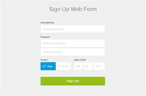 web forms design templates 20 quality web psd forms templates for free