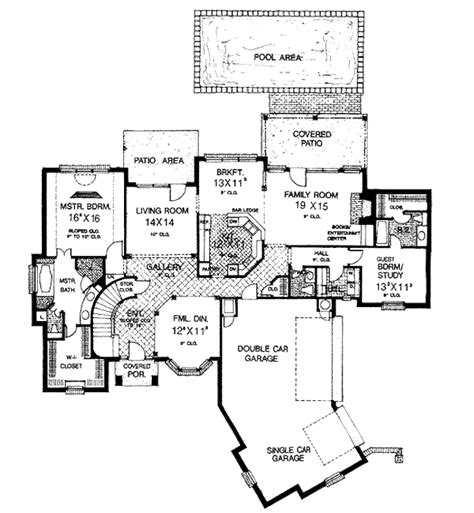 european style house plan 4 beds 3 5 baths 3238 sq ft