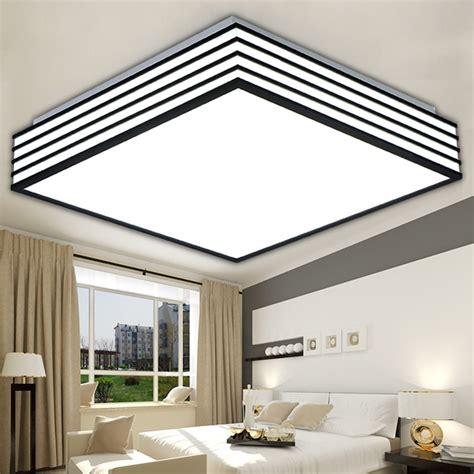square modern led ceiling lights living laras de techo