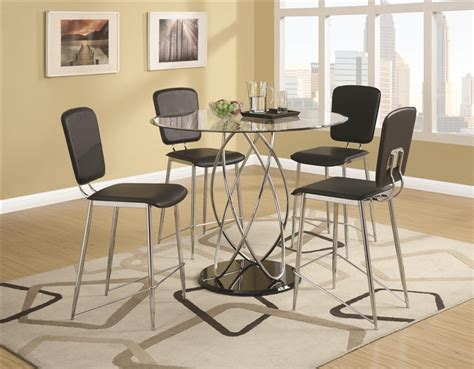 ciccone glass top 5 counter height dining table set