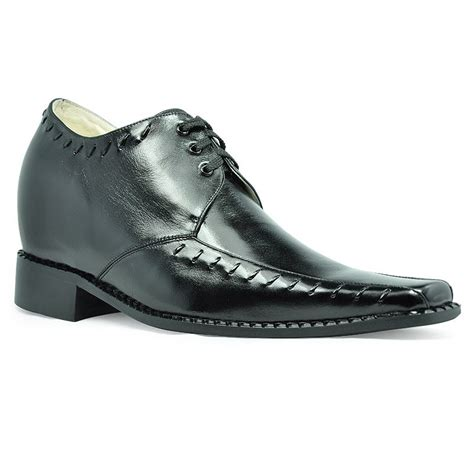 6130 lace up fashion elevator shoes grow 3 2 inches taller