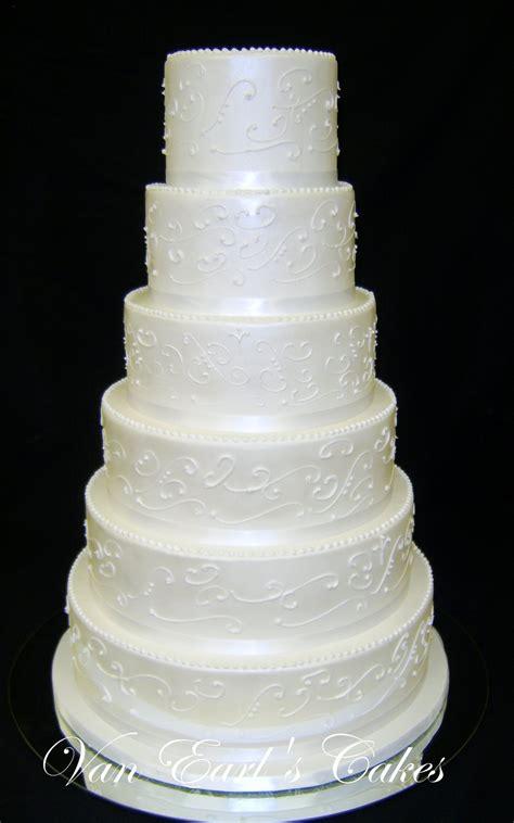 Wedding Cake Tiers by Earl S Cakes Six Tier White Wedding Cake