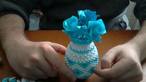 how to make 3d origami vase 2 model 2
